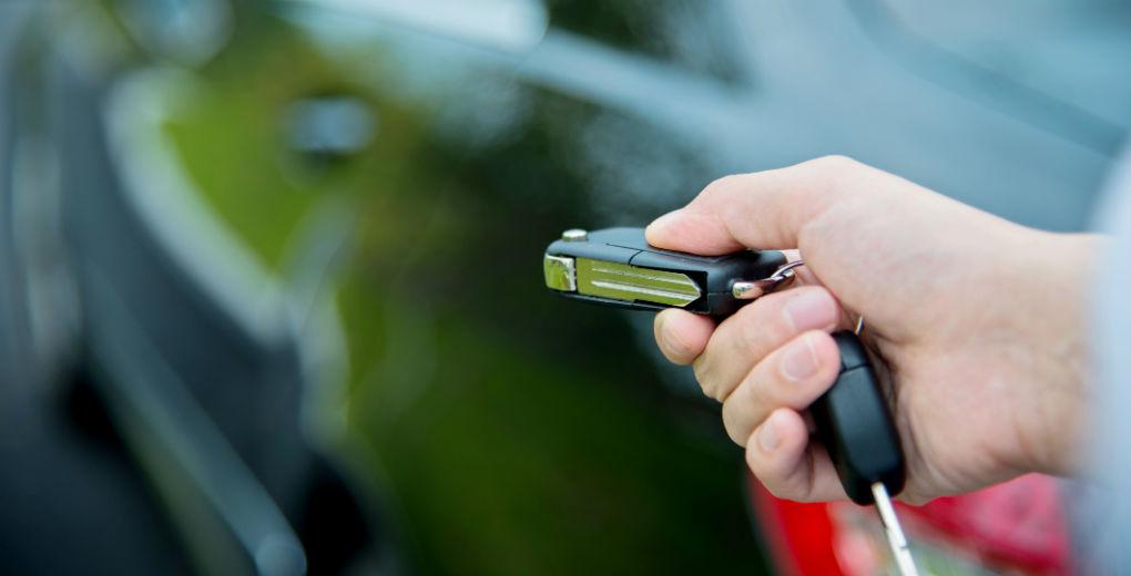 Unlocking car with key