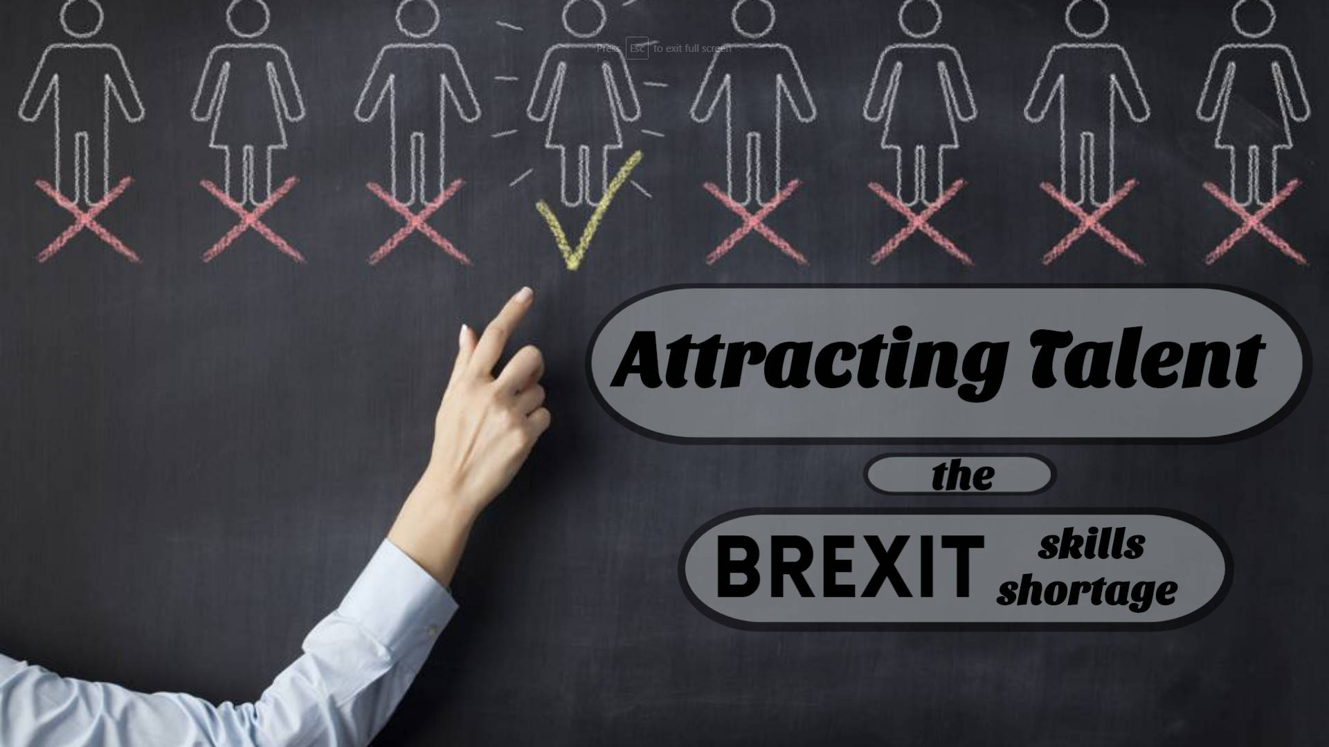 Chalkboard reads: Attracting talent in the Brexit skills shortage
